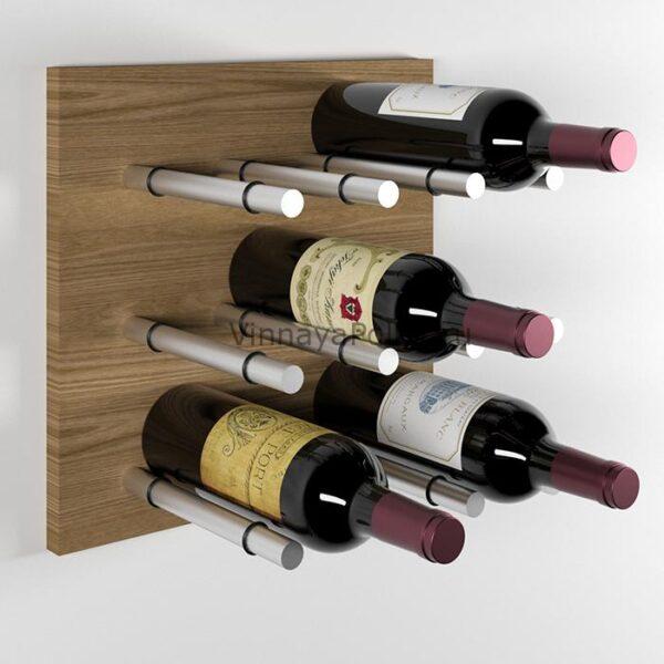 Модуль для вина на 9 бутылок дуб