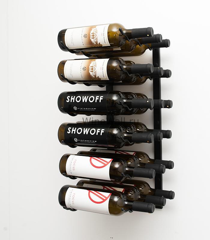 Винный стеллаж настенный 18 бутылок