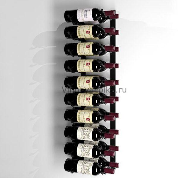Винный стеллаж настенный 10-20 бутылок