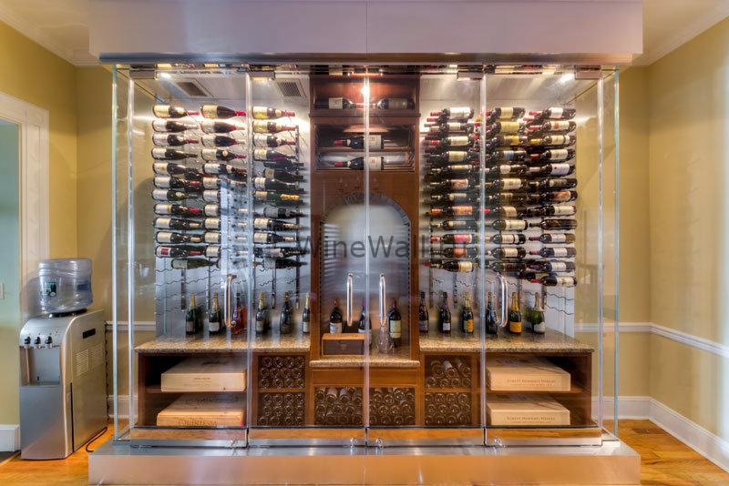 Винный стеллаж настенный 3-9 бутылок