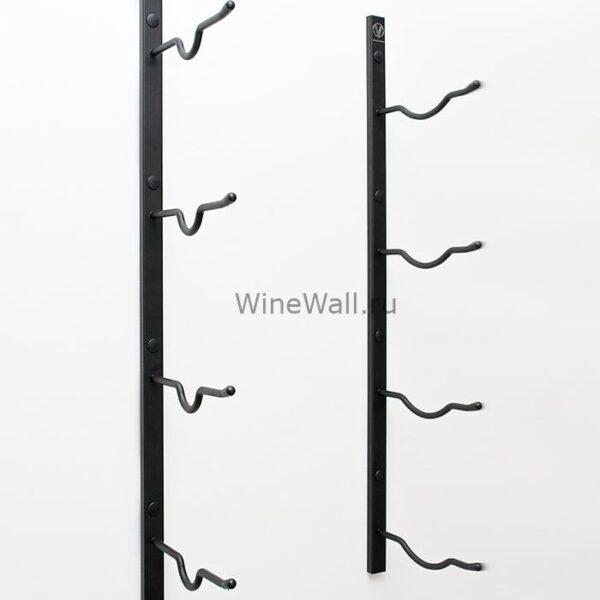 Винный стеллаж настенный 4 бутылки (Дабл магнум)