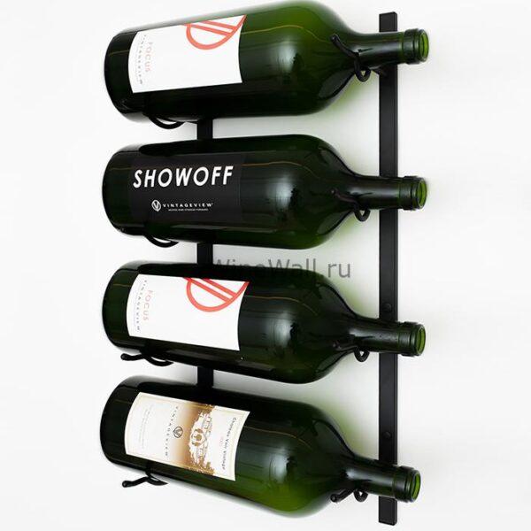 Винный стеллаж настенный 4 бутылки