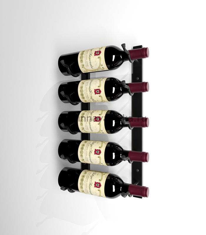 Винный стеллаж настенный на 5 бутылок вина