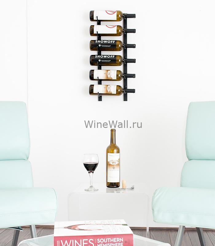 Винный стеллаж настенный 6-18 бутылок