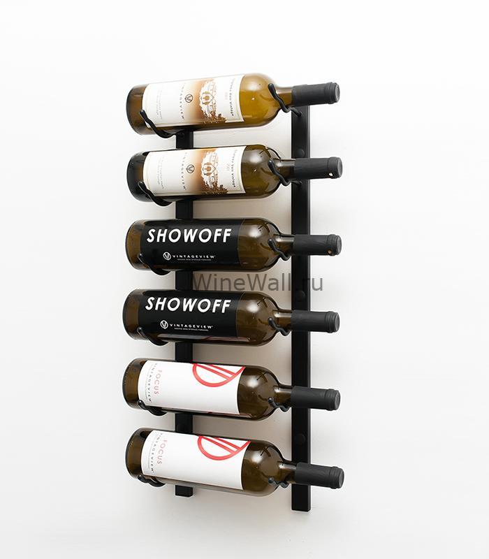 Винный стеллаж настенный 6 бутылок