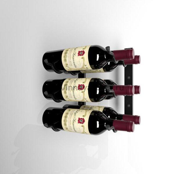 Винный стеллаж настенный 3-6 бутылок