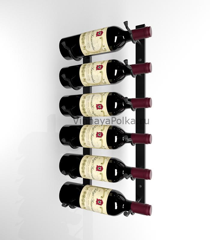 Винный стеллаж настенный 6-12 бутылок