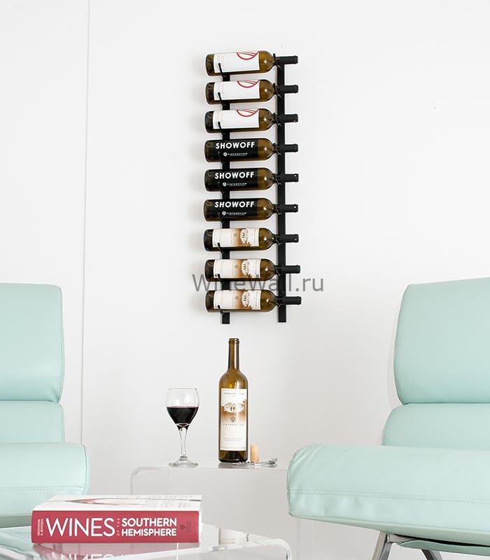 Винный стеллаж настенный 9-27 бутылок