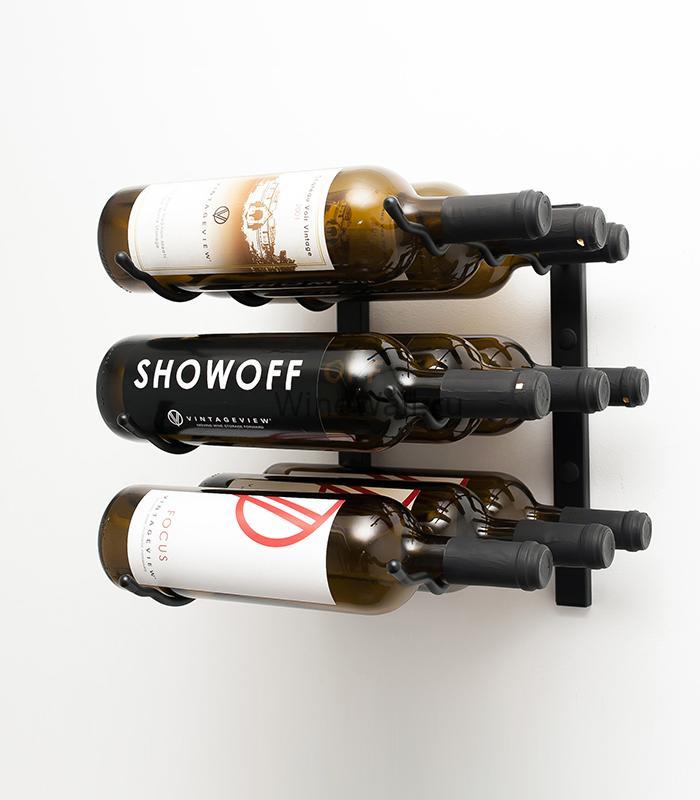Винный стеллаж настенный 9 бутылок