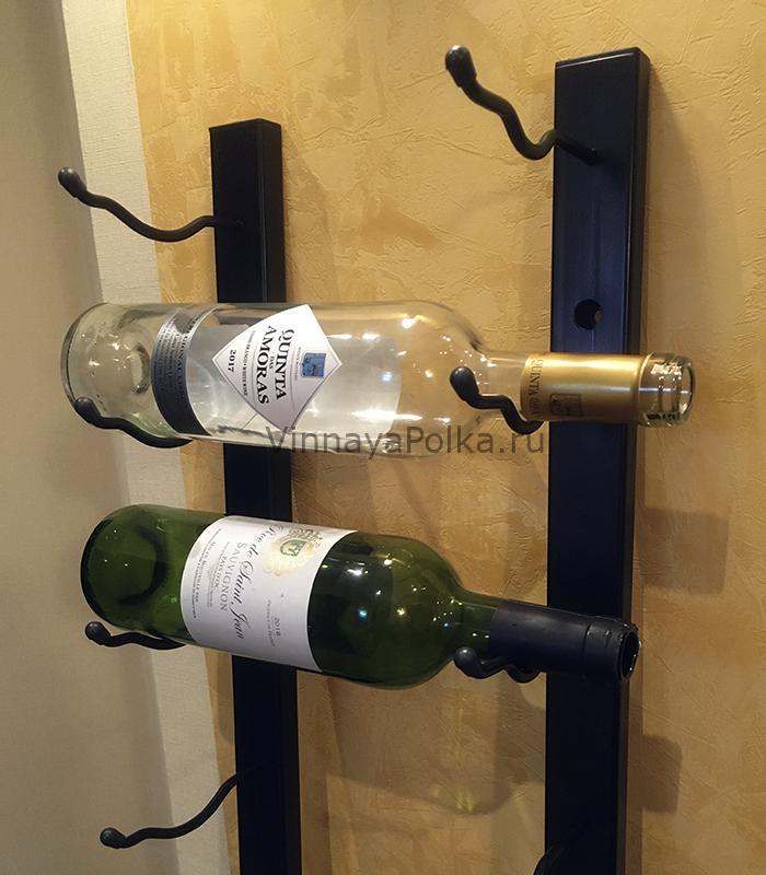 Винный стеллаж настенный для бутылок вина
