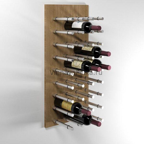 Модуль для вина на 27 бутылок дуб