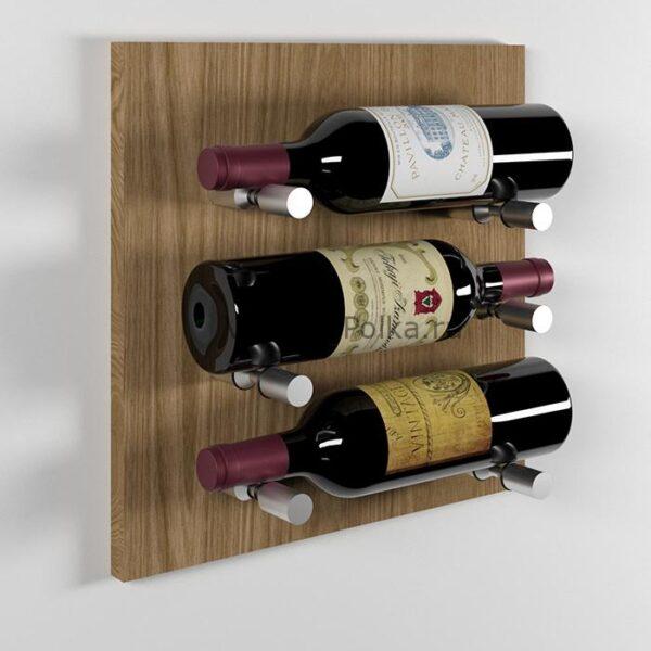 Модуль для вина на 3 бутылки дуб