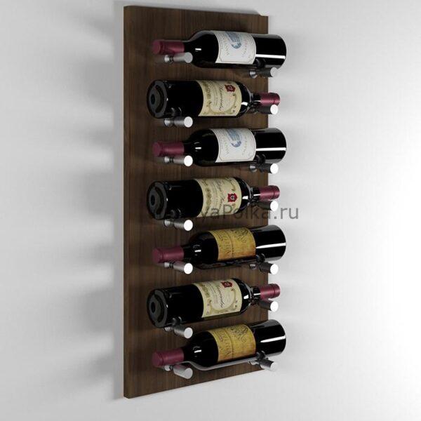 Модуль для вина на 7 бутылок орех