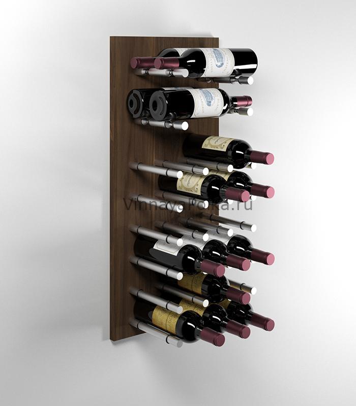 Модуль для вина на 22 бутылки орех
