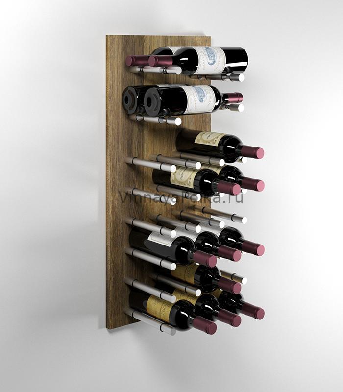 Модуль для вина на 22 бутылки старый дуб