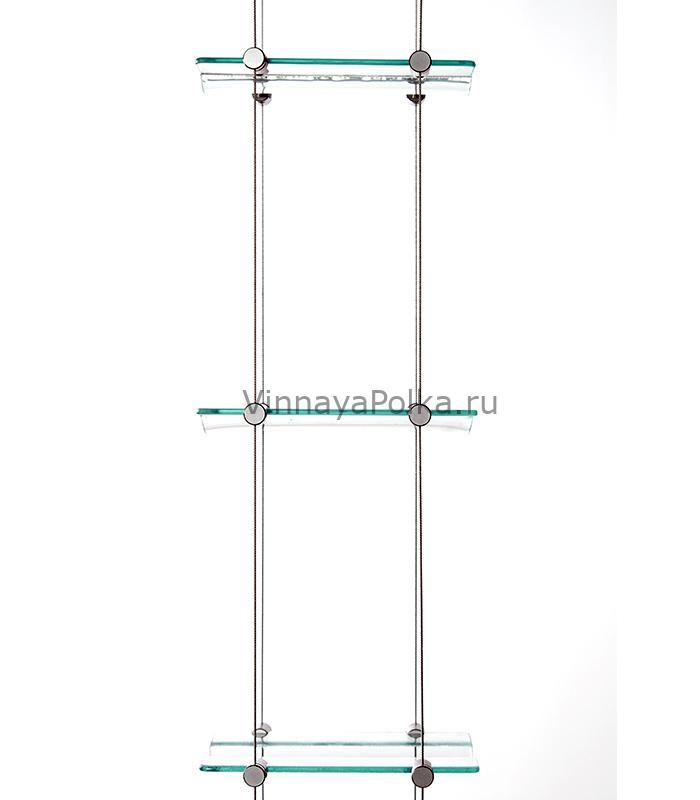 Тросовая система со стеклянными полками