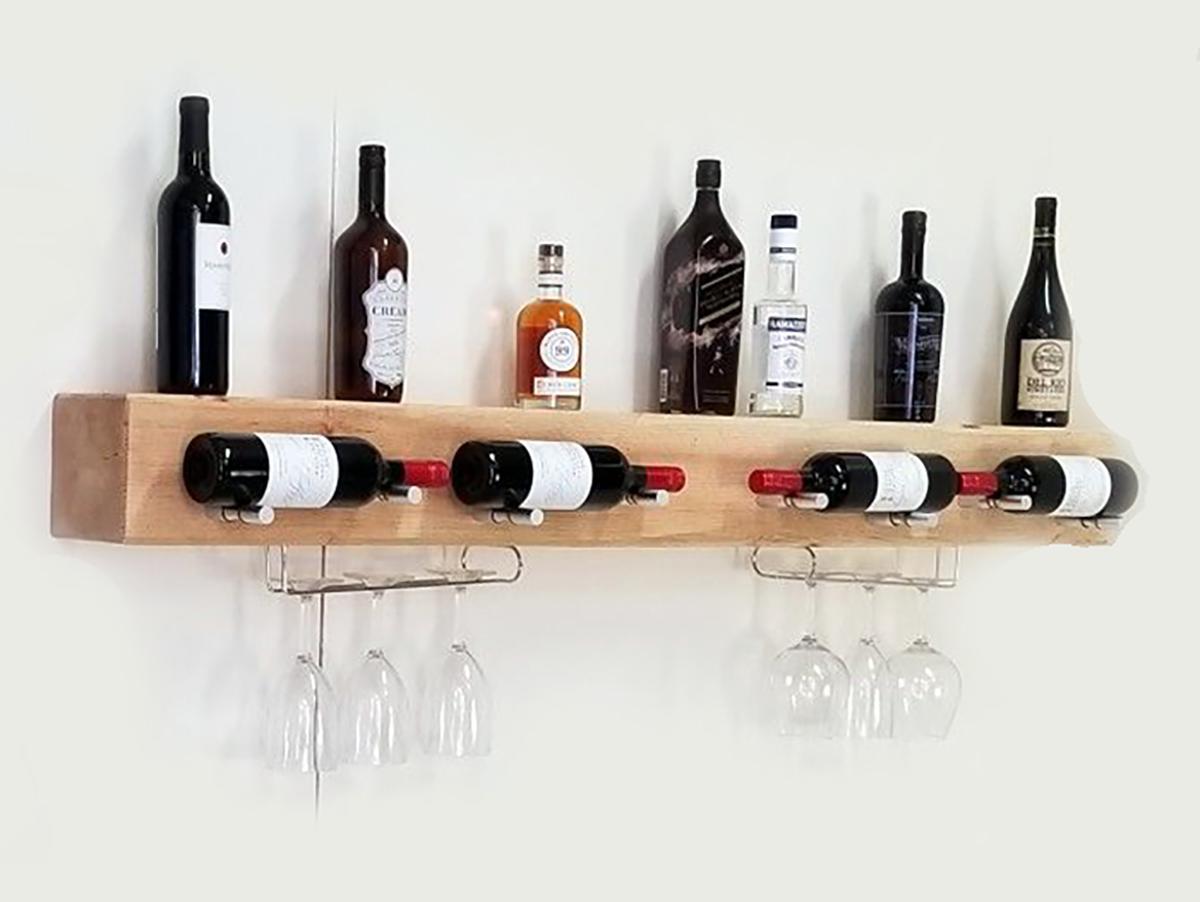 Полка для вина из дерева своими руками