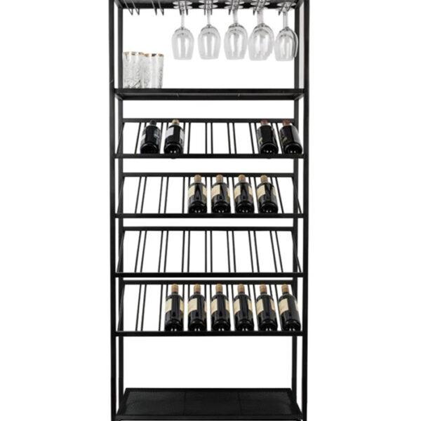 Металлический стеллаж для вина на 32 бутылки