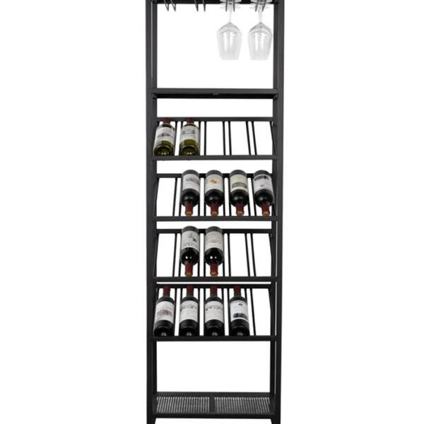 Металлический стеллаж для вина на 20 бутылок